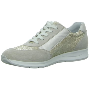 Longo Sportlicher Schnürschuh beige