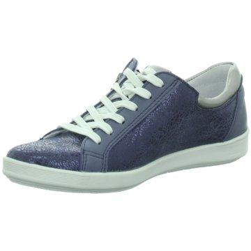 Longo Komfort Schnürschuh blau