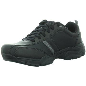 Skechers Komfort Schnürschuh schwarz