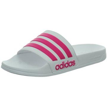 adidas BadeschuhCloudfoam Adilette weiß