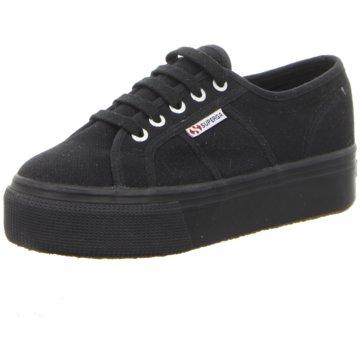 Superga Plateau Sneaker schwarz