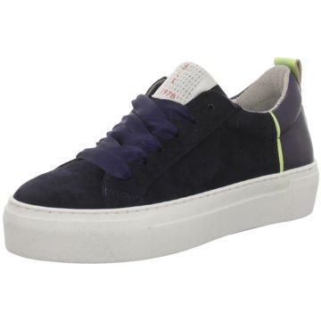 Black Plateau Sneaker blau