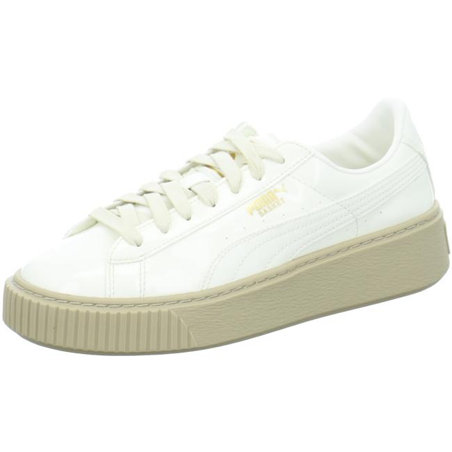 Puma Basket Platform Patent Sneaker Damen Mädchen Schuhe 363314 01