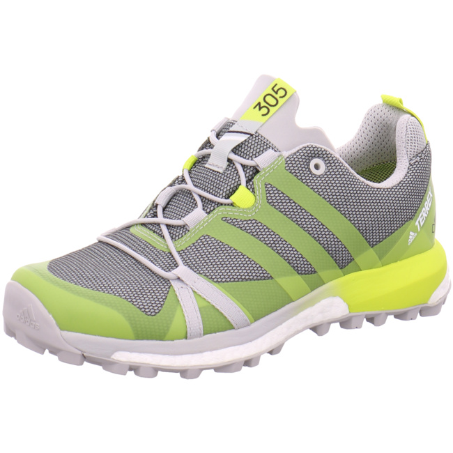 adidas Terrex Agravic GTX Damen Outdoorschuhe Trail Running grau gelb Trailrunning