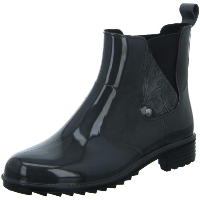 Rieker P8162 45 Schuhe Damen Gummistiefel Chelsea Boots Stiefeletten Warmfutter, Schuhgröße:40 EU, Farbe:Grau