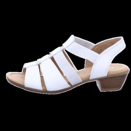 Kreta Sandalette Weiß Gabor Schuhe Damen Sandalen 50