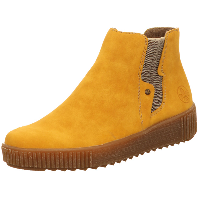 Details zu Rieker Stiefel in Übergrößen Gelb Y6461 68 große Damenschuhe