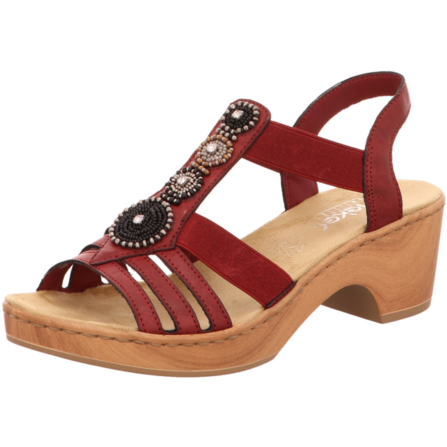 Rieker women sandal red V28S8 35