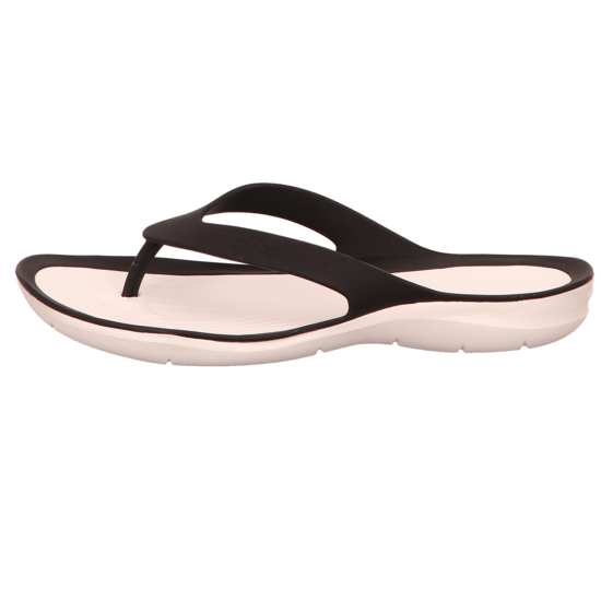 Zehentrenner CROCS - Swiftwater Flip W 204974 Black/White QkIWZ
