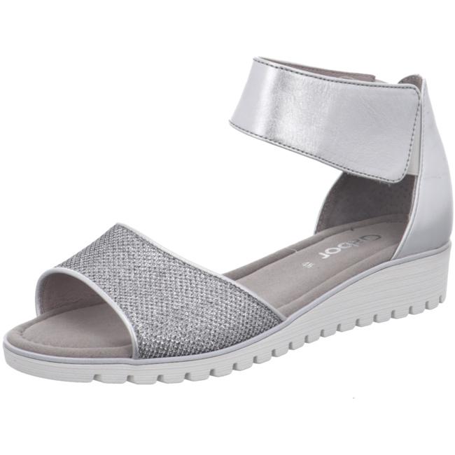 Gabor Damen Sandaletten Sandalette 84.571.60 Silber 437372 LiFY1AjW