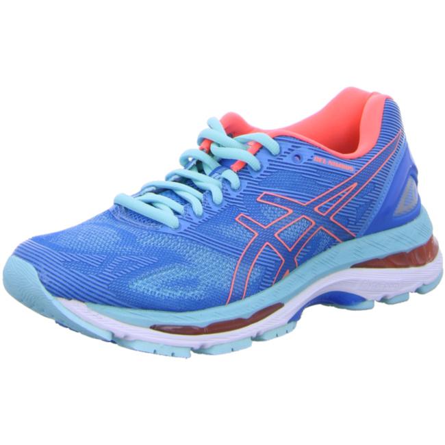 asics Gel-Nimbus 19 Damen Laufschuhe Running blau Running