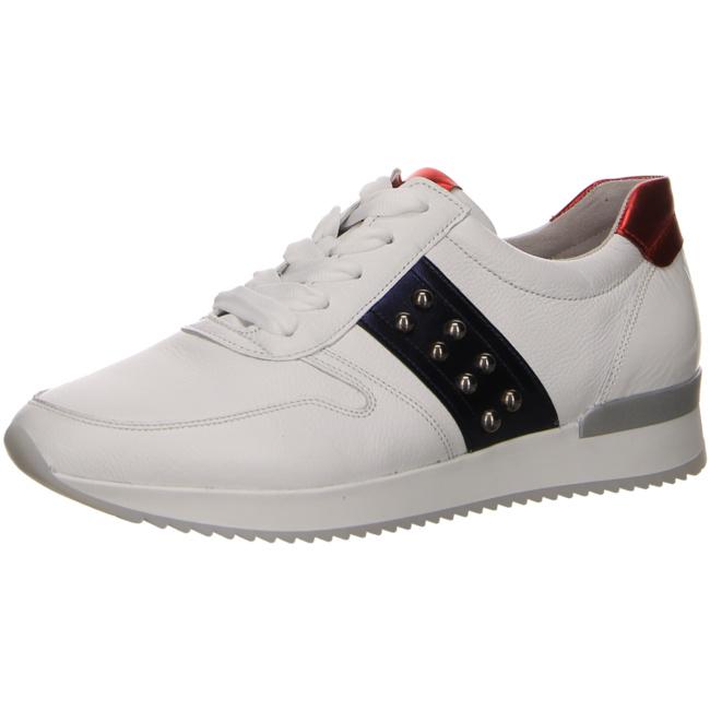 Gabor Damen 24-421-26 Weiße Glattleder Sneaker
