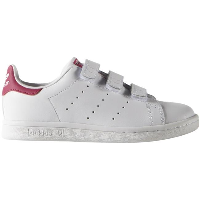 finest selection d014a fe5e2 adidas Originals Stan Smith CF Sneaker Kinder Schuhe Klettverschluss weiß  pink Sneaker Low