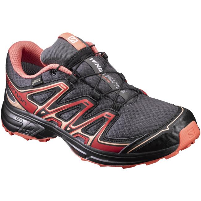 Wings Flyte 2 GTX Damen Trail-Running Laufschuhe rot schwarz schwarz schwarz L39249100  von Salomon--Gutes Preis-Leistungs-, es lohnt sich cc55cc