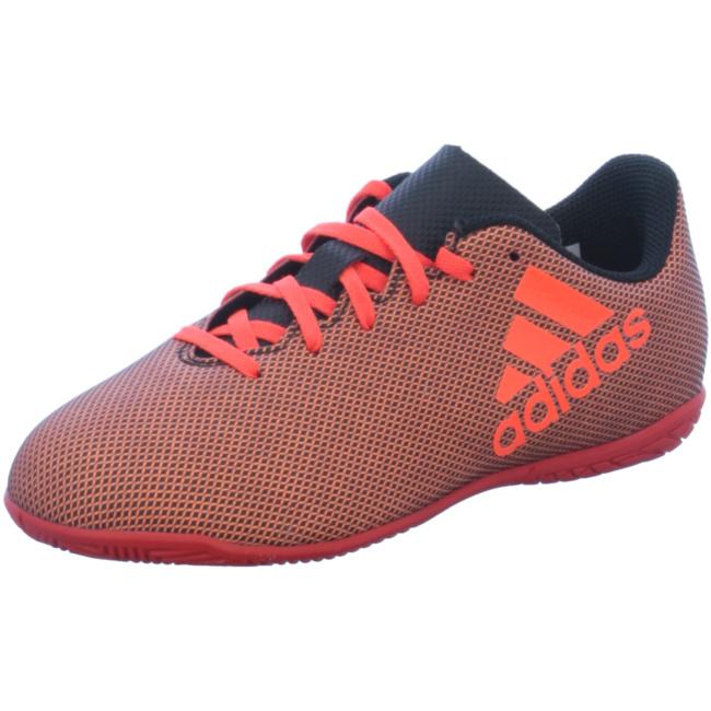 adidas X 17.4 Indoor Kinder Fußball Hallenschuhe rot schwarz Trainings und Hallenschuhe