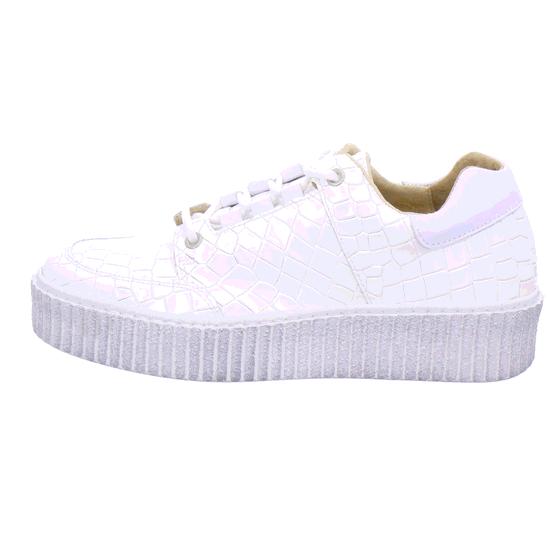 4900 1 Croco Weiss Plateau Sneaker Von Online Shoes