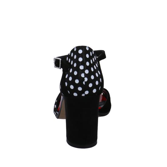 Camoscio Pallino n/b F1133   n/b T-Steg Pumps von Linea Uno svWkk