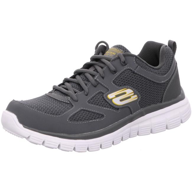 Skechers Burns Agoura Herren Sneaker 52635 | Grau CHAR