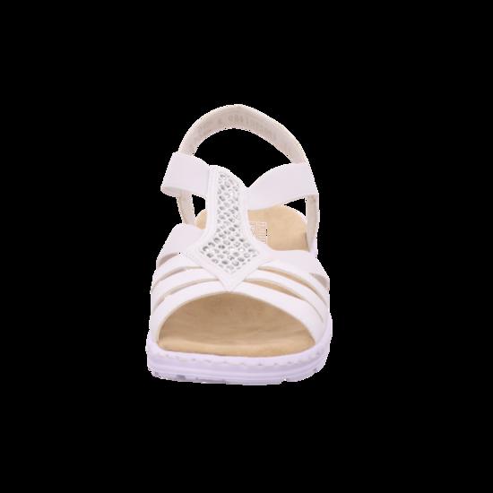 Rieker Komfort Sandalen Damenschuhe V18Q2 80 Weiss | Schuhe24