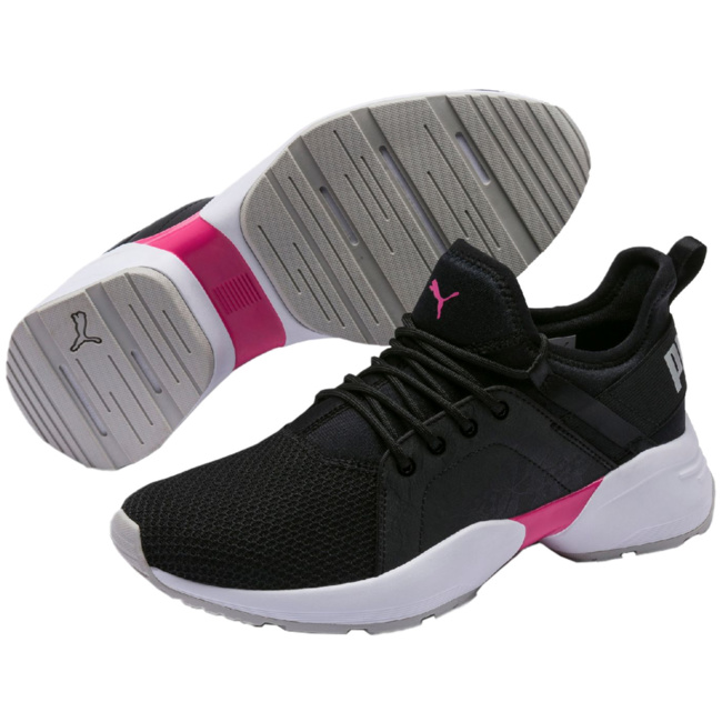 PUMA Sirena Damen Low Boot Sneaker Schwarz Weiss Schuhe, Größe:39