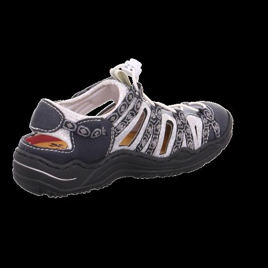 Rieker Lugano-Bogota Women Schuhe Damen Antistress Slipper pacific L1780-16