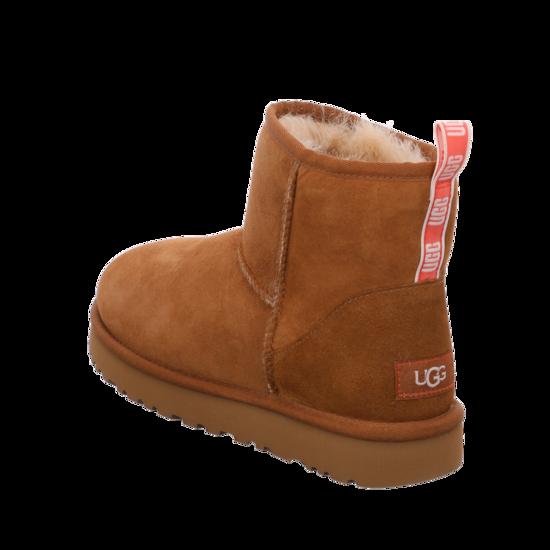 UGG Australia Classic Mini II Damen Stiefeletten Schuhe Braun Boots, Größenauswahl:37