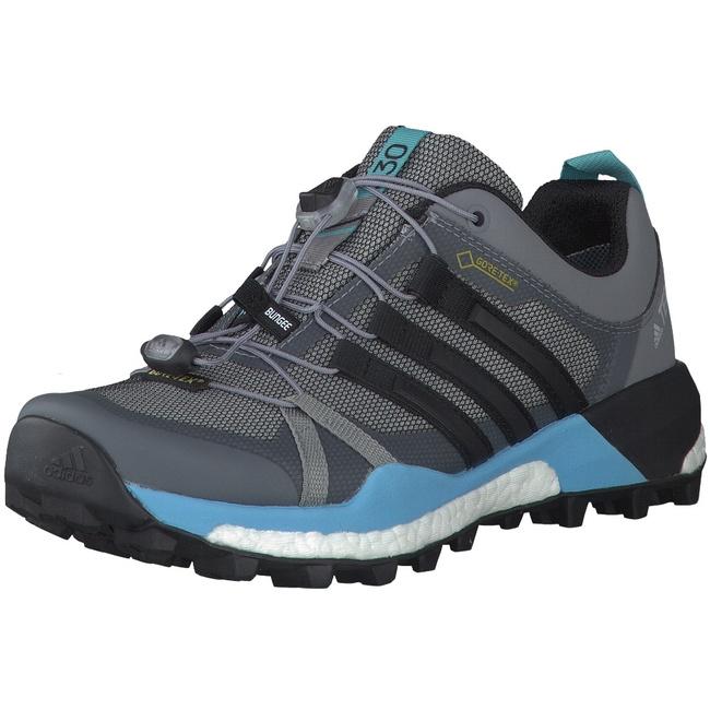 adidas Terrex Skychaser GTX Damen Outdoorschuhe Trail Running grau blau Trailrunning