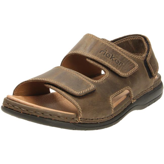 Komfort Sandale von Rieker in braun dunkel für Herren. Gr