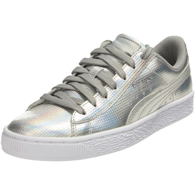 ea99f2a850 Basket Classic Holographic Sneaker Damen Schuhe silber 362860 ...